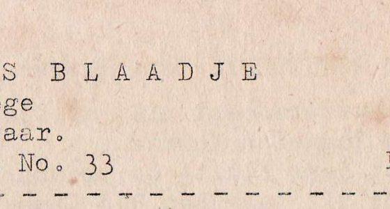 Roggels Blaadje (09-02-1952)