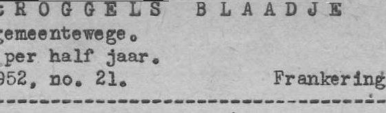 Roggels Blaadje 22-11-1952