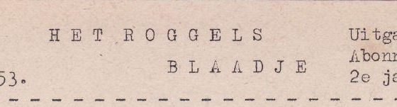 Roggels Blaadje 31-01-1953