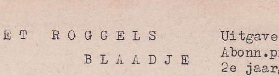 Roggels Blaadje 07-02-1953