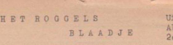 Roggels Blaadje 16-05-1953