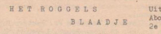 Roggels Blaadje 27-06-1953