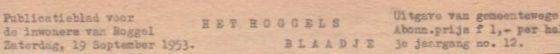Roggels Blaadje 19 september 1953