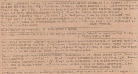 Roggels Blaadje 16-01-1954