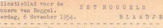 Roggels Blaadje 6 nov. 1954